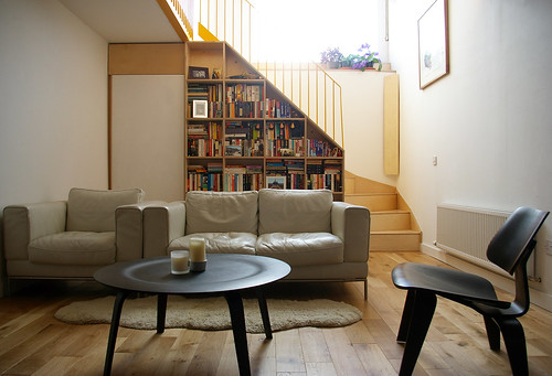 living room and new stair
