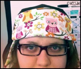 owl-y earflap hat.