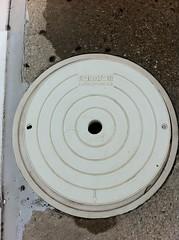 floor(0.0), spiral(0.0), wheel(0.0), wood(0.0), iron(0.0), flooring(0.0), manhole cover(1.0), circle(1.0),