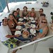 Litsa with her family and friends in Greece