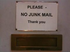 Please - no junk mail