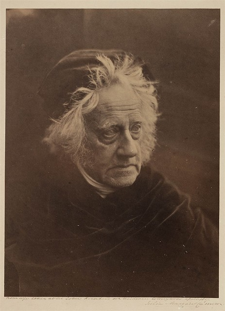 Sir John Herschel with Cap, 1867, by Julia Margaret Cameron