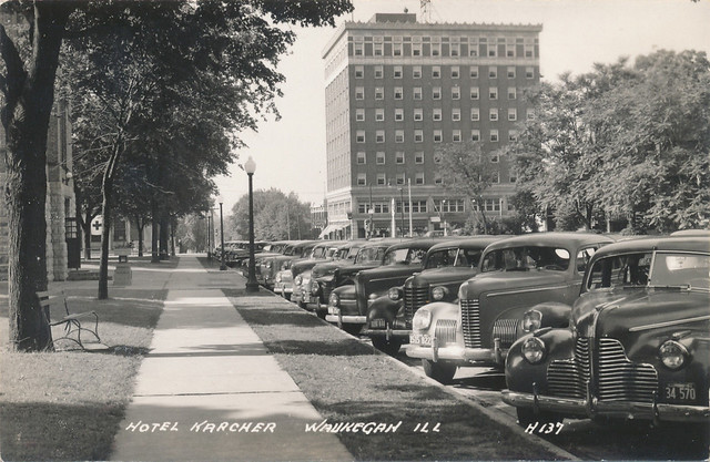 Street view from Utica; 1940s