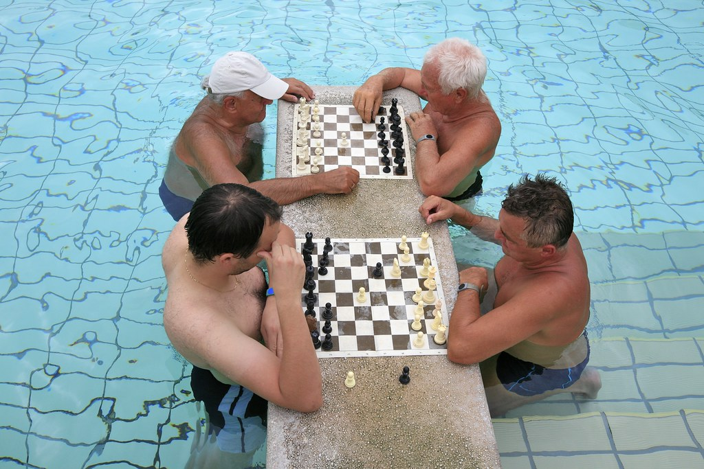 Chess in the Budapest Baths