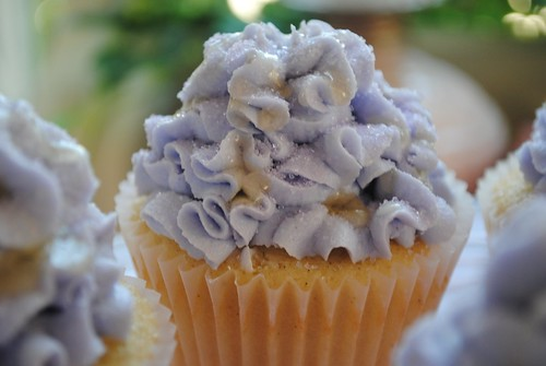 Lavender Honey Vanilla Bean Cupcakes
