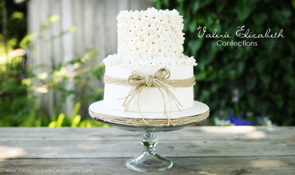 Two Tier Wedding Cake With Twine