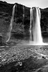? waterfall area (B&W)