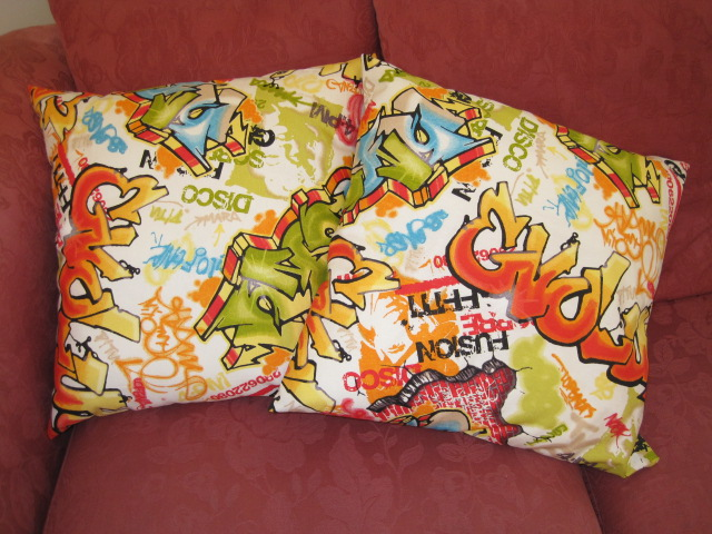 Graffiti cushions | Flickr - Photo Sharing!