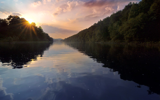 Sunset on the Kiski River