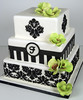 W9103 - black damask square cake toronto