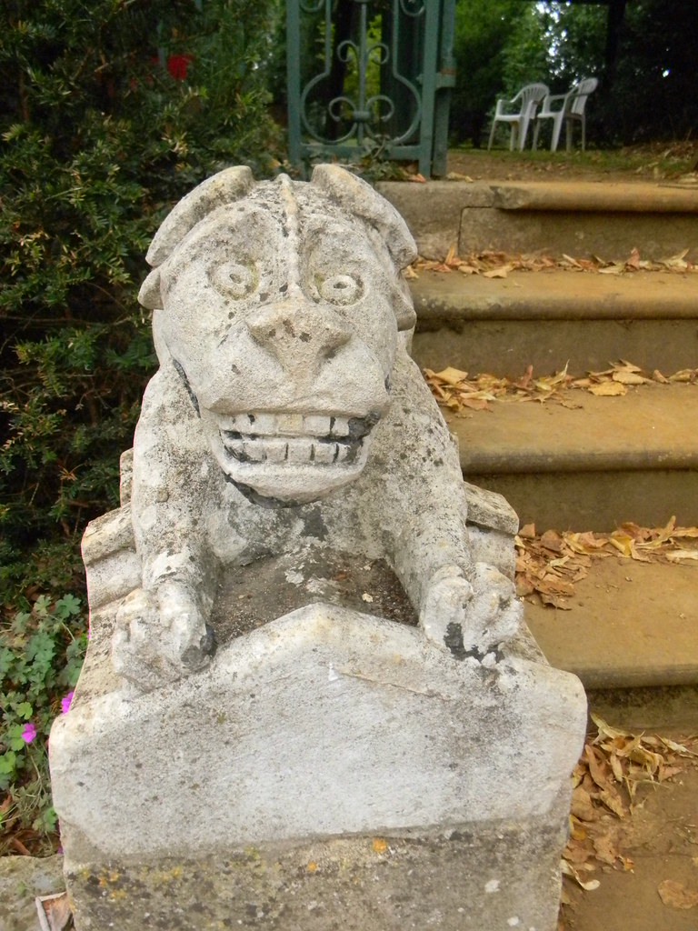 Bridge End Gardens Great Chesterford to Newport Worth visiting just to see these ugly mugs