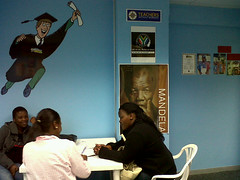 Mandela ist �berall. Peace Education Workshop in Port Elizabeth; Photo: Teachers Without Borders / flickr