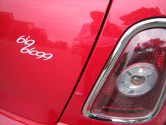 bigblogg sticker on a MINI
