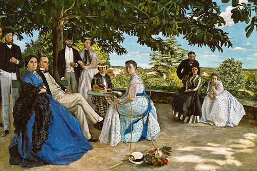 Frederic Bazille - Family Reunion, 1867 at Musée d'Orsay Paris France