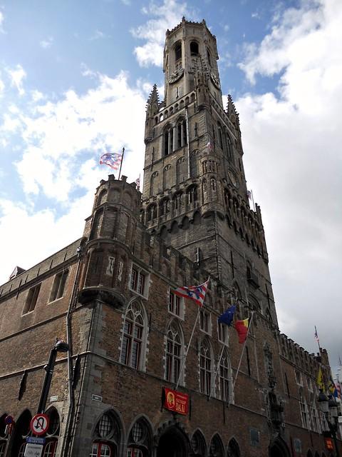 Big, bold Belfry, Bruges.