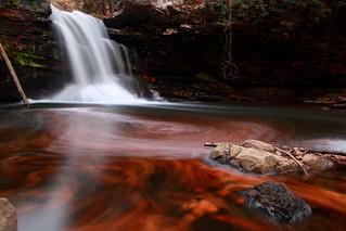 Fiery Autumn Waterfall