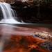 Small photo of Fiery Autumn Waterfall