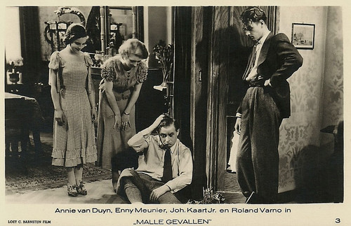 Annie van Duyn, Enny Meunier, Johan Kaart jr., Roland Varno in Malle gevallen