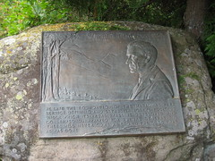 Stephen Mather Plaque, Rock Harbor, Isle Royale National Park, Michigan