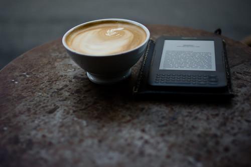 Coffee and kindle. Perfect Sunday