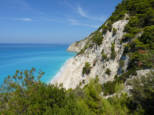 Eggremni beach in Lefkada