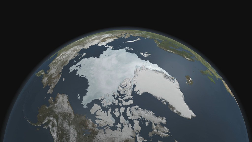 Arctic Sea Ice 2011 Minimum [hd video]