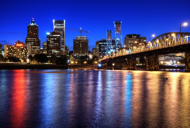 Portland Skyline at Blue Hour