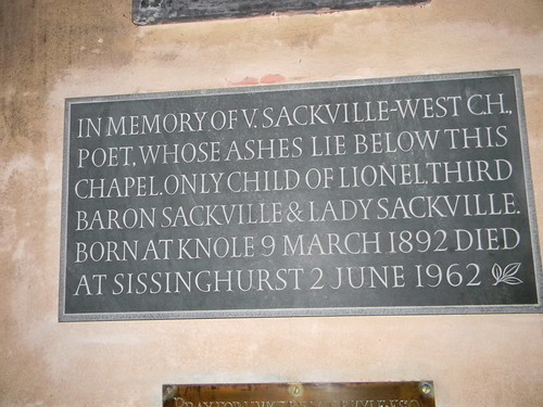 Memorial to Vita Sackville-West, Withyam Church