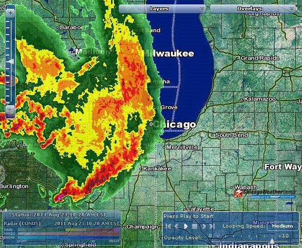 Chicago Weather Center radar: Aug. 23, 2011 | Chicago area w… | Flickr