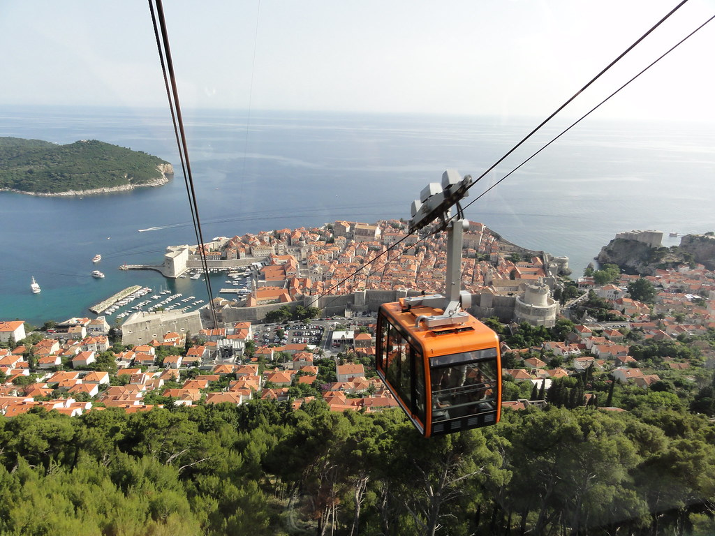 Dubrovnik Cable Car. Dubrovnik, Croatia
