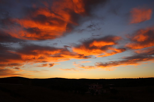 pink blue sunset orange clouds rural canon eos countryside twilight day cloudy dusk country 7d fiery canon7d