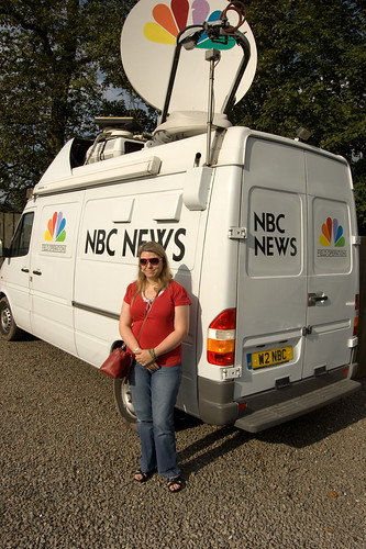 broadcast nbc scotland satellite van nbcnews dryfesdalehotel