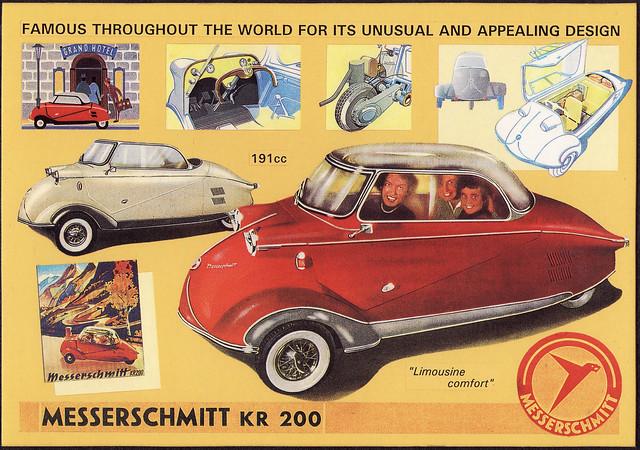 Sold Messerschmitt Kr200 3 Wheeler Microcar Auctions: 1955 Messerschmitt KR200 Ad - England