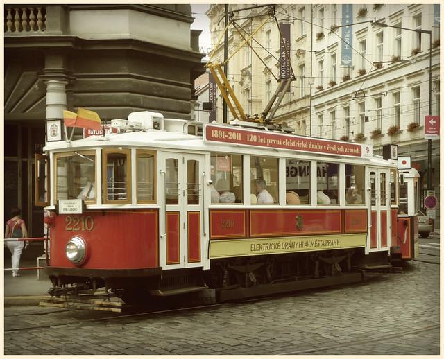 old tram prague street - photo #31