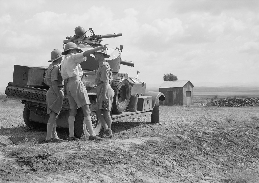 Royal Air Force armoured car - RAF Ramleh, Palestine - circa 1930's