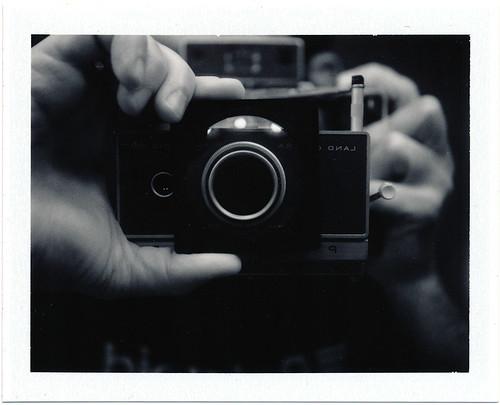 Polaroid Closeup Test In Mirror with 3x Closeup Filter