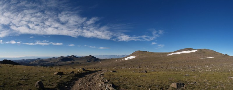 View from the Barcroft Observatory. Mount Barcroft (elevation 13040 feet) is on the right