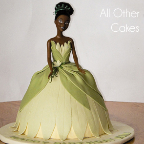Princess-tiana-barbie-cake