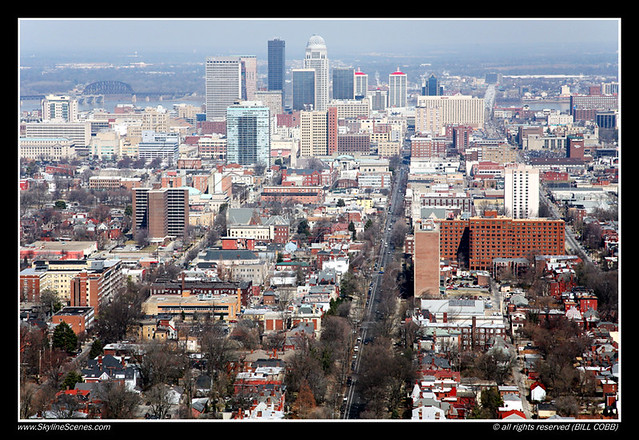 Downtown Skyline Of Louisville Kentucky Aerial Of The