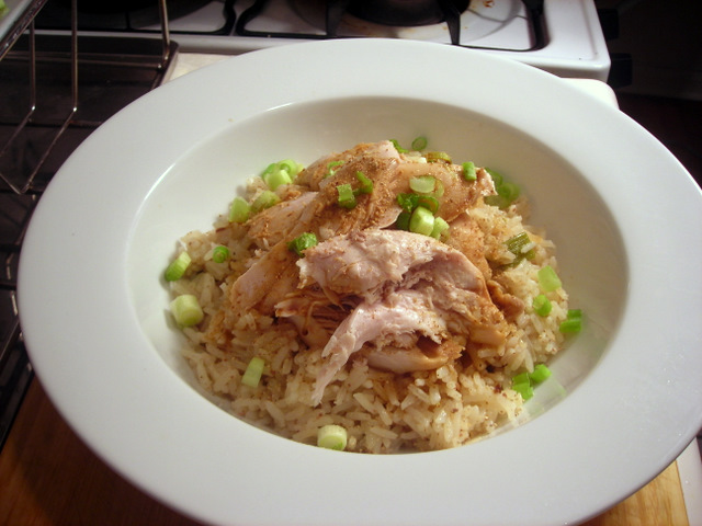 Bái qie ji with Hainanese chicken rice
