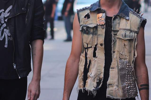 Punk denim vest