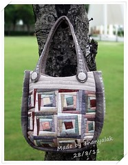 Crazy Log Cabin Bag