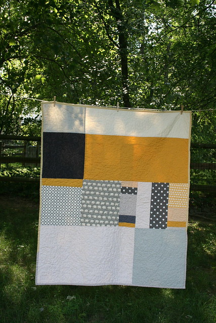 Grey and Yellow Quilt