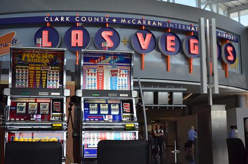 El casino del aeropuerto de Las Vegas