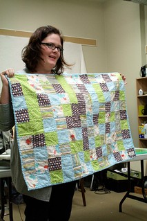 My first quilt! An Ollalieberry Ice Cream Quilt, in baby size, for my son Jack.
