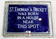 Photo of Thomas a Becket blue plaque