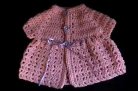 Crochet Baby Jacket Tutorial : Crochet baby Imagination Sweater Filet Stitch video ...