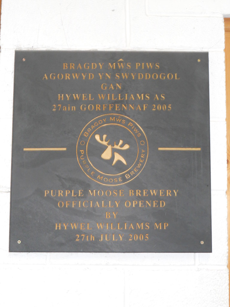 Purple Moose Opening Plaque