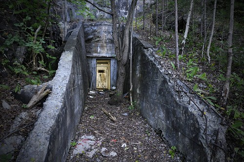 Underground WW2 Bunker - entrance