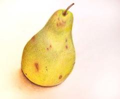 yellow, pear, fruit, food,